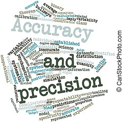 Accuracy and precision - Abstract word cloud for Accuracy ...