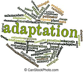 Abstract word cloud for Adaptation with related tags and terms