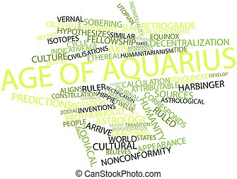Age of Aquarius - Abstract word cloud for Age of Aquarius...