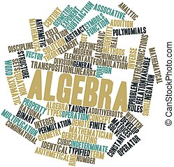 Algebra - Abstract word cloud for Algebra with related tags...
