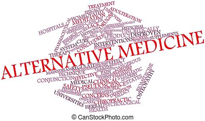 Alternative medicine - Abstract word cloud for Alternative ...