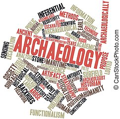Archaeology - Abstract word cloud for Archaeology with...