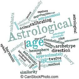 Astrological age - Abstract word cloud for Astrological age...
