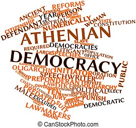 Athenian democracy - Abstract word cloud for Athenian...