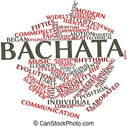 Abstract word cloud for Bachata with related tags and terms