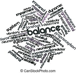 Abstract word cloud for Balance with related tags and terms