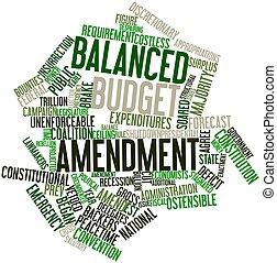 Balanced budget amendment - Abstract word cloud for Balanced...