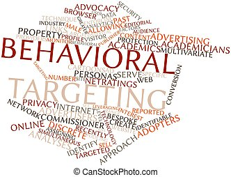 Behavioral targeting - Abstract word cloud for Behavioral...