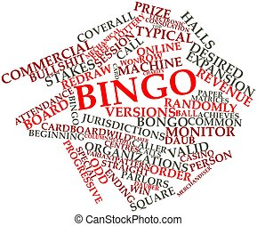 Bingo - Abstract word cloud for Bingo with related tags and...
