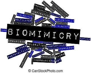 Biomimicry - Abstract word cloud for Biomimicry with related...