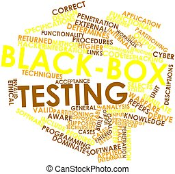 Black-box testing - Abstract word cloud for Black-box...