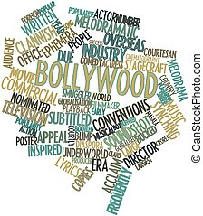 Bollywood - Abstract word cloud for Bollywood with related...