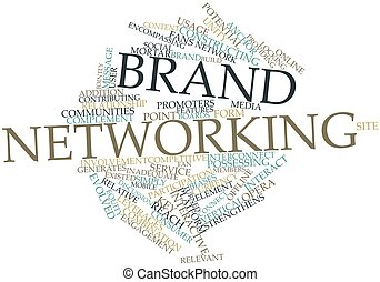 Brand networking - Abstract word cloud for Brand networking...