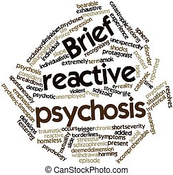 Brief reactive psychosis - Abstract word cloud for Brief...