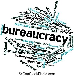 Bureaucracy - Abstract word cloud for Bureaucracy with...