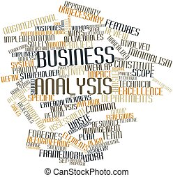 Abstract word cloud for Business analysis with related tags and terms