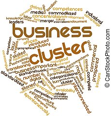 Business cluster - Abstract word cloud for Business cluster...