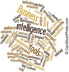 Business intelligence tools - Abstract word cloud for...