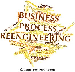 Business process reengineering - Abstract word cloud for...
