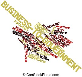 Business-to-government - Abstract word cloud for...