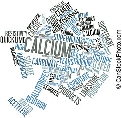 Calcium - Abstract word cloud for Calcium with related tags...