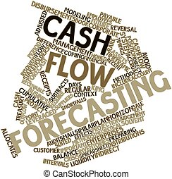Cash flow forecasting - Abstract word cloud for Cash flow...