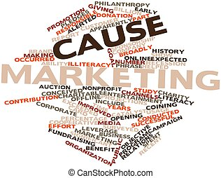 Cause marketing - Abstract word cloud for Cause marketing...