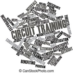 Circuit training - Abstract word cloud for Circuit training...