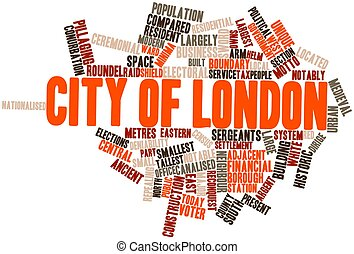 City of London - Abstract word cloud for City of London with...