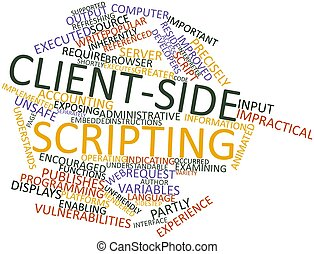 Client-side scripting - Abstract word cloud for Client-side ...