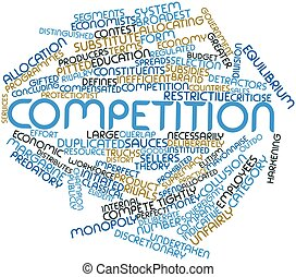 Competition - Abstract word cloud for Competition with...