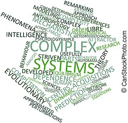 Abstract word cloud for Complex systems with related tags and terms