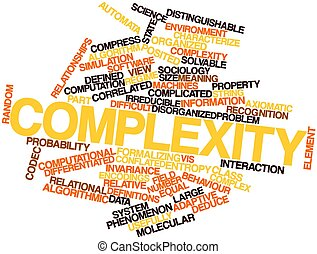 Complexity - Abstract word cloud for Complexity with related...