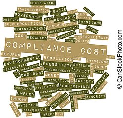 Compliance cost - Abstract word cloud for Compliance cost...