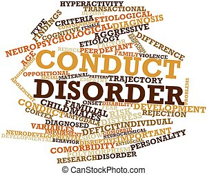 Conduct disorder - Abstract word cloud for Conduct disorder...