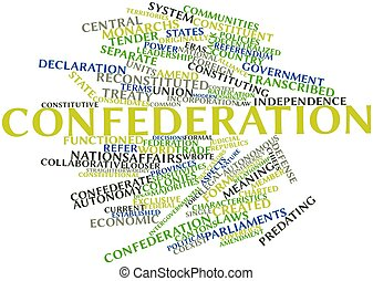 Confederation - Abstract word cloud for Confederation with...
