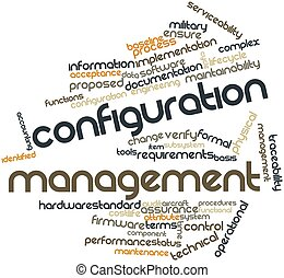 Configuration management - Abstract word cloud for...