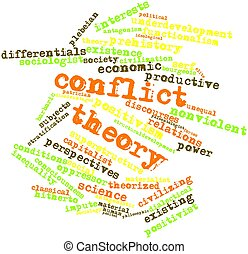 Conflict theory - Abstract word cloud for Conflict theory...