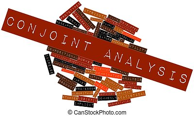 Conjoint analysis - Abstract word cloud for Conjoint...
