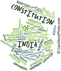 Abstract word cloud for Constitution of India with related tags and terms