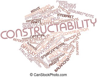Constructability - Abstract word cloud for Constructability ...