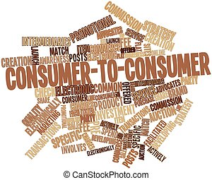 Consumer-to-consumer - Abstract word cloud for...