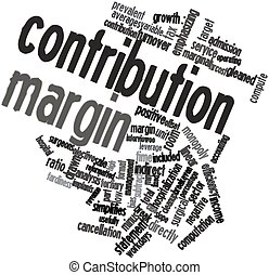 Abstract word cloud for Contribution margin with related tags and terms