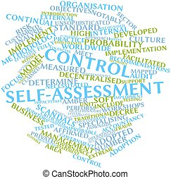 Control self-assessment - Abstract word cloud for Control...