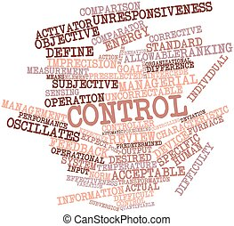 Control - Abstract word cloud for Control with related tags...
