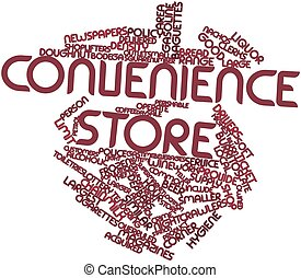 Convenience store - Abstract word cloud for Convenience...
