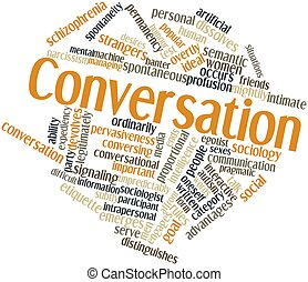 Conversation - Abstract word cloud for Conversation with...