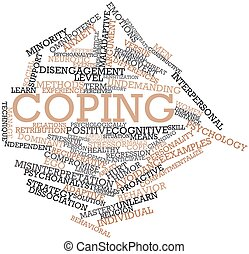 Abstract word cloud for Coping with related tags and terms