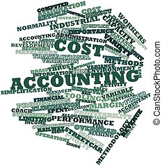 Cost accounting - Abstract word cloud for Cost accounting...