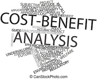 Cost-benefit analysis - Abstract word cloud for Cost-benefit...